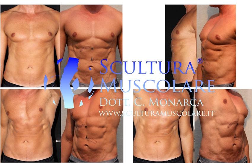addome six pack scultura muscolare