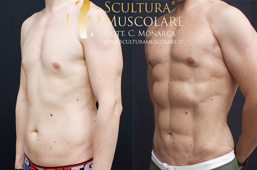 scultura muscolare addome uomo